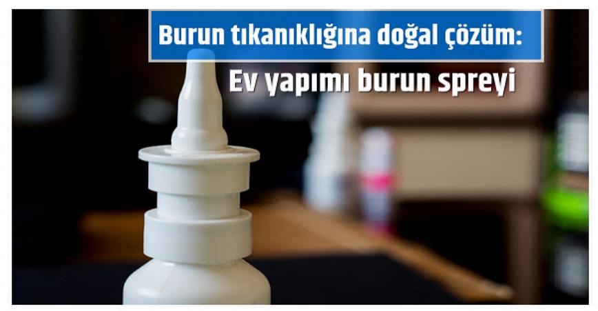 Photo of Burun tıkanıklığına doğal çözüm: Ev yapımı burun spreyi