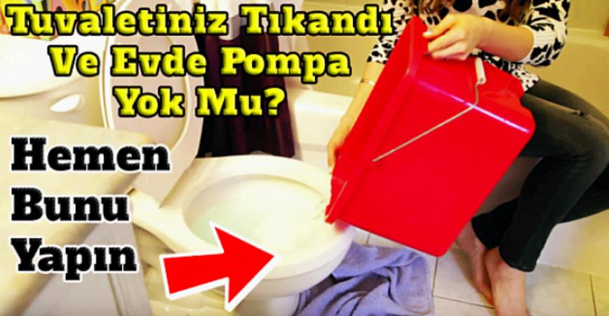 Photo of Tuvaletinizmi Tıkandı Evde Pompa Yokmu? Hemen Bunu Yapın!